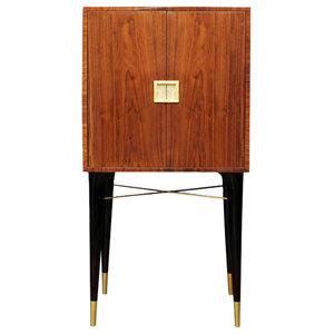 Madison Walnut Cabinet, Gold Leaf