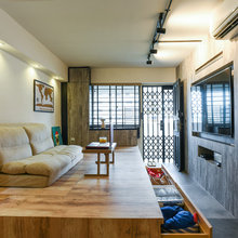 Houzz Tour: Industrial-Chic Flat With Many Space-Saving Features