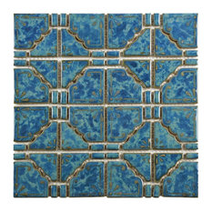 11 75 X11 Luna Porcelain Mosaic Floor And Wall Tile Pacific Blue