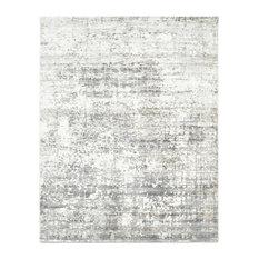 Florencio Contemporary Abstract Hand Loomed Area Rug, Ash, 9x12'