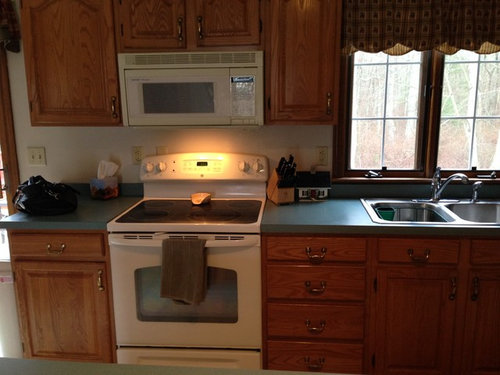 what color laminate countertop to go with oak cabinets rh houzz com