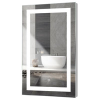 "Kent LED Mirror With Touch Sensor, 24""x40"""