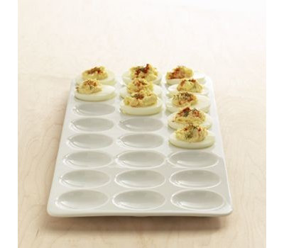 guest picks egg platters to keep those devils in their place