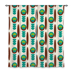 DiaNoche Designs   DiaNoche Lined Window Curtains By Nika Martinez Mid  Century Modern Turquoise   Curtains
