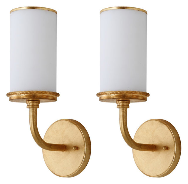 Safavieh Lorena 14 Inch High Gold Wall Sconce