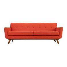 Engage Upholstered Sofa, Atomic Red