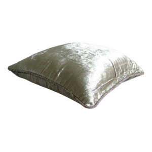 Solid Color Pearl Euro Pillowcases, Velvet 65x65 Pillow Cases, Pearl Shimmer