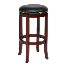 "29"" Cordova Swivel Stool, Cherry"