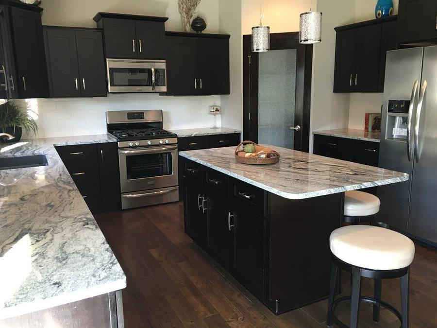 Dark Espresso Shaker Kitchen Cabinets w/ Soft Close by ...