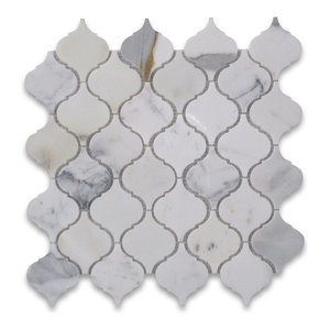 14 5 Quot X15 Quot Carrara White Lantern Shaped Arabesque Baroque