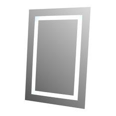 Lighted Image Led Illuminated Mirror With Bluetooth Speakers Bathroom Mirrors