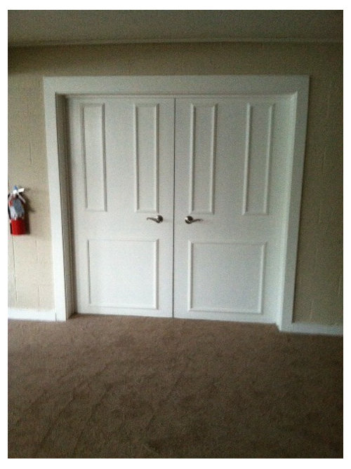 Take A Flat Door Add Trim And Paint. Add New Door Handles Great Way To  Update A Room