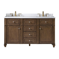 Paulita Double Vanity, Washed Hazel, 60""