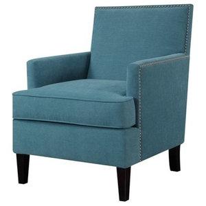 Marvelous Uttermost Katana Peacock Blue Armchair Transitional Unemploymentrelief Wooden Chair Designs For Living Room Unemploymentrelieforg
