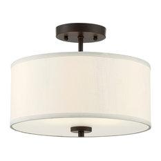 Helmsman Lighting Works - 2-Light Semi Flush Mount Light, Oil Rubbed Bronze - Flush-mount Ceiling Lighting
