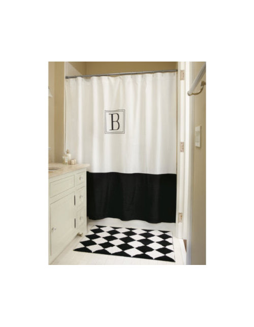 Can I Purchase The White Shower Curtain With The Black Border Without The  Monogram?