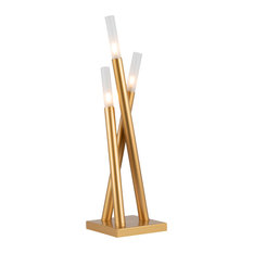 Icicle Contemporary Table Lamp in Gold Metal by LumiSource