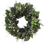 VanCortlandt Farms - Irish Spring Wreath - This wreath brighten any door that it hangs on! Perfect mix of German statice and ammobium buds to create that early spring feel!