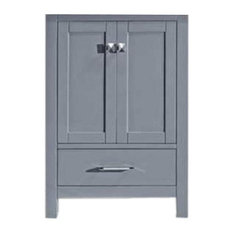 Caroline Avenue 24-inch Single Bathroom Vanity Cabinet Gray