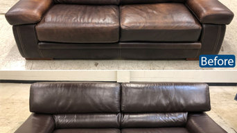 Leather loveseat color restoration