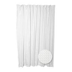 Zenna Home White Luxury Spa Fabric Shower Curtain