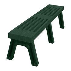 Bench, Cambridge Backless, 4', Green Legs, Green