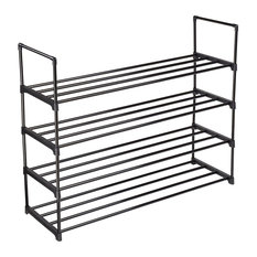 4 Tier Metal Shoe Rack Shelf 20 Pairs Storage Organizer Holder Stand Entryway