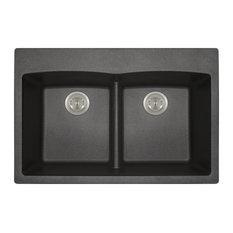 Kitchen Topmount Sink Double Equal Bowl Low-Divide - AstraGranite