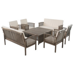 Cute Craftsman Outdoor Lounge Sets by GDFStudio