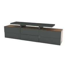 Scacco Modern TV Stand, Anthracite and Pine Finish