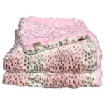 Cozy Faux - Cozy Faux Fur Throw, Pink Lynx-Light Pink - Our most lavish Cozy Faux throws have the look and feel of genuine animal fur. We only use the finest fabric available to make our hand-made faux-fur throws. They are the ultimate in thickness and remarkable softness. Decorators love using them to finish a room! Made in the U.S.A.