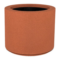 Milan Round Outdoor Planters, Set of 2, Red Clay