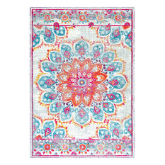 """Withered Bloom In Bouquet Area Rug, Pink, 5'x7'5"""""""