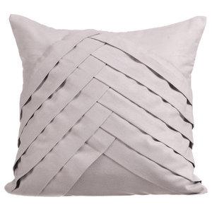 35x35 Suede Light Grey Cushions Cover, Light Grey No Limits No Lines