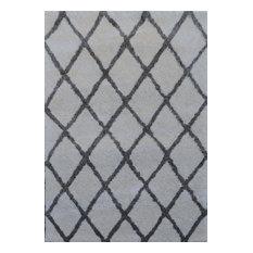 Noble House Moroccan MORO-202 5'x7' Cream, Gray Rug