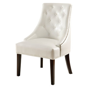Addison Upholstered Lounge Chair White Midcentury
