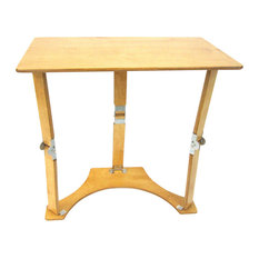 Spiderlegs Wooden Folding Laptop Desk/Tray Table, Golden Oak