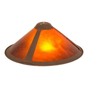 Lamp Shade Amber Mica Transitional Lamp Shades By