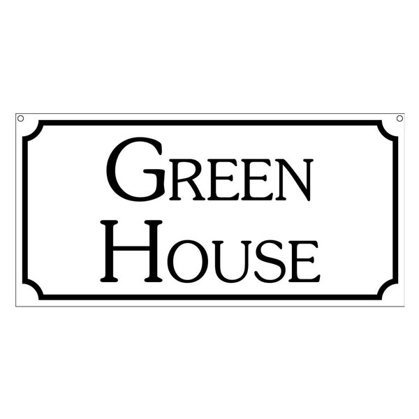 Green House, Aluminum Outdoor Gardening Plants Sign, 6