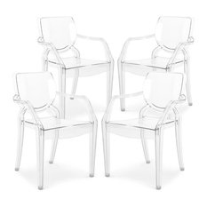 Poly and Bark Avery Kids Dining Armchair in Clear, Set of 4