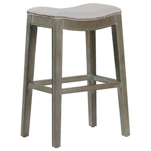Miraculous Ash Bar Stool Frost Gray No Kickplate Transitional Bar Caraccident5 Cool Chair Designs And Ideas Caraccident5Info