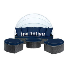 SOLIS Sombra Daybed, Navy and White