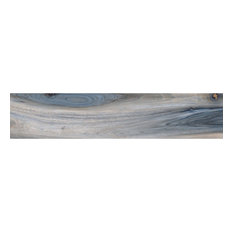 "Rio Tiger 8""x48"" Porcelain Wood Look Tile, Blue, Polished"