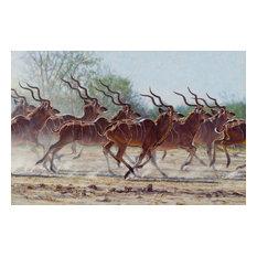 """Bachelor Herd"" John Banovich Limited Edition Giclee, 22""x34"""
