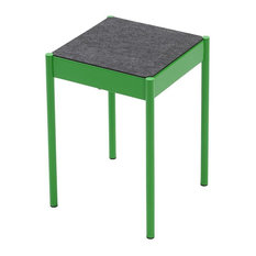 La Table Powder-Coated Steel Stool With Felt Top, Green