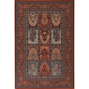 "Timeless Treasures Traditional Burgundy Rug 5'3""x7'6"""