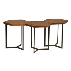 Side Tables DOVETAIL ASUNA Set 3 Reclaimed