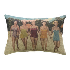 Bathing Suits Linen Pillow