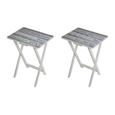 Waterside Living TV Tray Tables, Set of 2