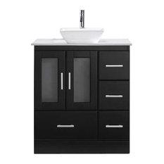 """Zola 30"""" Single Bathroom Vanity Cabinet Set, Espresso"""